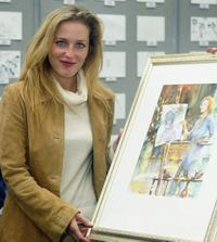 Gillian Anderson at the National Doodle Day at Jerwood Space.