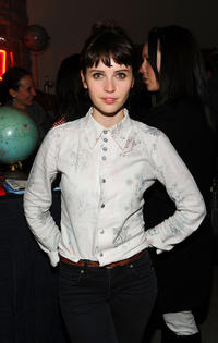 Felicity Jones at the Levis AE Showroom in Utah.