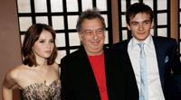 Felicity Jones, Stephen Frears and Rupert Friend at the UK premiere of