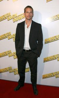 Paul Walker at the premiere of