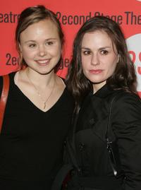Alison Pill and Anna Paquin at the opening night of Broadway play