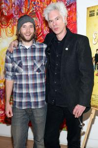 Mark Webber and producer Jim Jarmusch at the after party of the New York premiere of