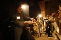 Director Wes Anderson on the set of