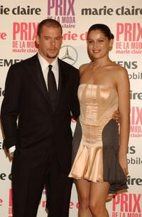 Alexander McQueen and Laetitia Casta at the 1st Edition of Marie Claire Magazine Fashion Awards.