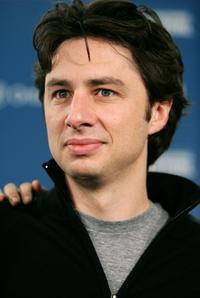 Zach Braff at the press conference of