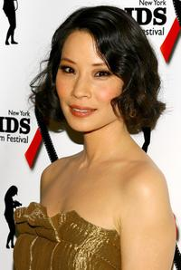 Lucy Liu at the The New York Aids Film Festival for