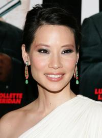 Lucy Liu at the premiere of ''Code Name: The Cleaner''.