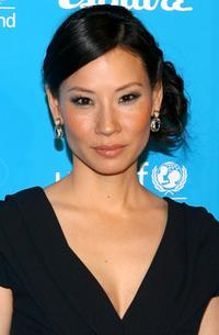 Lucy Liu at the 2008 UNICEF and Esquire nationwide launch of the