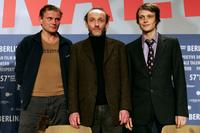 Devid Striesow, Karl Markovics and August Diehl at the press conference of