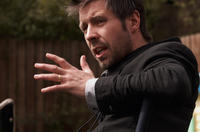 Director Paddy Considine on the set of