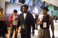 Ejiofor as Mike Terry and Jose Pablo Cantillo as Snowflake in