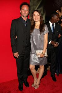Walton Goggins and director Nadia Conners at the premiere of