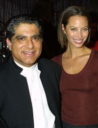 Deepak Chopra and Christy Tulington at the Chopra's CD release Event.