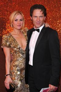 Anna Paquin and Stephen Moyer at the HBO's Post Golden Globe Awards party.