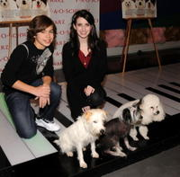 Jake T. Austin and Emma Roberts at the celebration of the Dreamworks Pictures and Nickelodeon Movies release