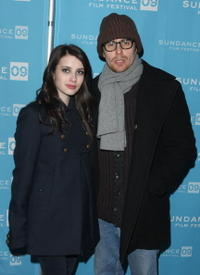 Emma Roberts and Sam Rockwell at the screening of