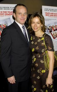 Clark Gregg and Jennifer Grey at the premiere of