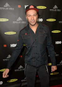 Tom Morello at the 28th Annual Rock and Roll Hall of Fame Induction Ceremony in California.