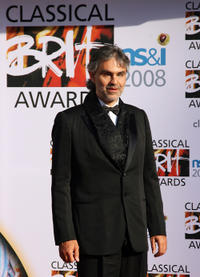 Andrea Bocelli at the 2008 Classical Brit Awards in London.
