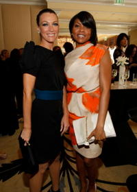 Natalie Zea and Taraji P. Henson at the 8th Annual Awards Season Diamond Fashion Show.
