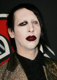 Marilyn Manson at the Rolling Stone Magazine's 1000th cover celebration.