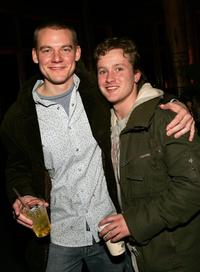 Director Brian Jun and Tom Guiry at the Gersh Agency Party during the Sundance Film Festival.