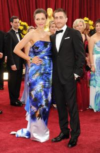 Maggie Gyllenhaal and Jake Gyllenhaal at the 82nd Annual Academy Awards.
