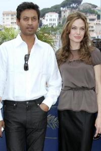 Irfan Khan and Angelina Jolie at the photocall of