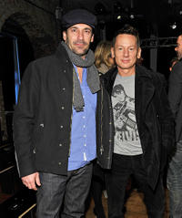 Jon Hamm and Jim Nelson at the Rag & Bone Fall 2011 fashion show during the Mercedes-Benz Fashion Week.
