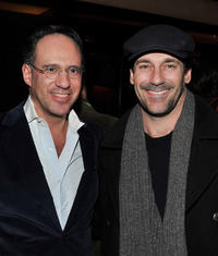 Andrew Saffir and Jon Hamm at the after party of the screening of