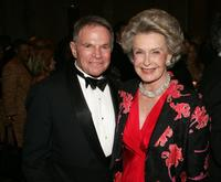 Ted Hartley and Dina Merril at the Museum of Television and Radio honoring of Bob Wright and Saturday Night Live.