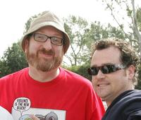 Brian Posehn and Guest at the Writers Guild of America (WGA).