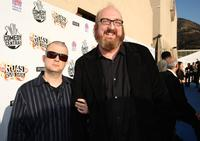 Jim Norton and Brian Posehn at the Comedy Central Roast Of Bob Saget.