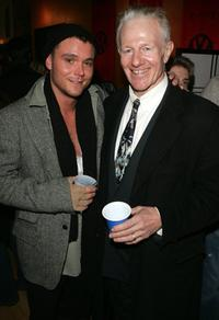 Clayne Crawford and Raymond J. Barry at the premiere party of