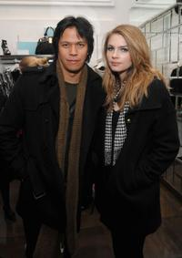Chaske Spencer and Brittney Nola at the Guess by Marciano and ELLE event benefiting the Susan G. Komen Foundation.