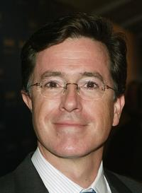 Stephen Colbert at the premiere of