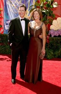 Stephen Colbert and guest at the 58th Annual Primetime Emmy Awards.