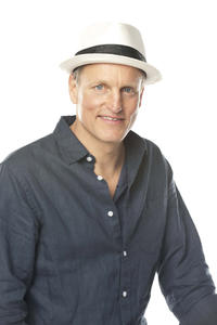 Woody Harrelson on the set of