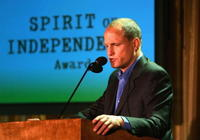 Woody Harrelson at the Los Angeles Film Festival Spirit Of Independence Award Ceremony Honoring Charlize Theron.