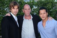 Chris Bowers, Miguel Ferrer and Will Yun Lee at the NBC All-Star Party during the 2007 Summer Television Critics Association Press Tour.