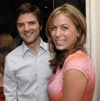 Adam Scott and Sonya Walger at the Gersh Agency pre-emmy party.