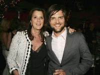 Paula Weinstein and Adam Scott at the afterparty of the premiere of