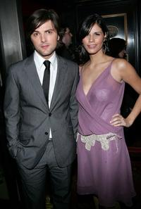 Adam Scott and his girlfriend Naomi at the premiere of