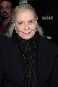 Lauren Bacall at the New York premiere of