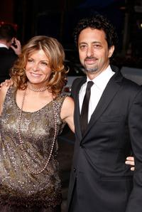 Grant Heslov and Lisa at the premiere of