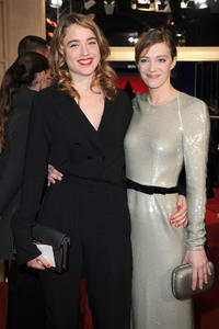 Adele Haenel and Celine Sallette at the 37th Cesar Film Awards in Paris.