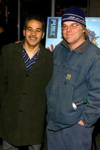 Philip Seymour Hoffman and John Ortiz at the party of the opening night of