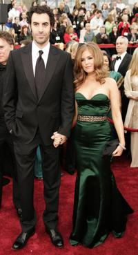 Sacha Baron Cohen and Isla Fisher at the 79th Academy Awards in Hollywood.