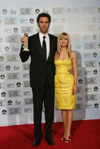 Sacha Baron Cohen and Reese Whitherspoon at the 64th Annual Golden Globe Awards.