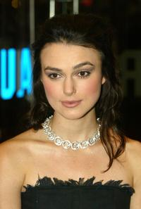 Keira Knightley at the UK charity premiere of